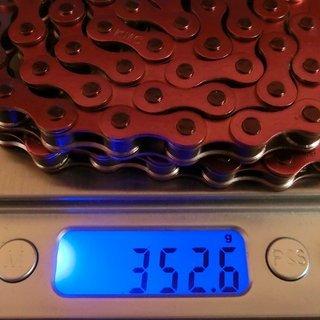 Gewicht KMC Chain Kette S1 Color 112 links