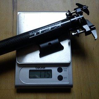 Gewicht Keil Components Sattelstütze Vollcarbonsattelstütze 27,2 x 400mm