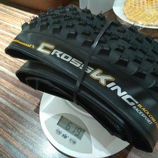 Gewicht Continental Reifen Cross King Race Sport  26x2.3