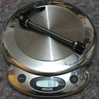 Gewicht Superstar Components Achse Front QR Through Axle 100 x 9mm