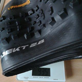 Gewicht Continental Reifen Baron Project  27,5x2.6
