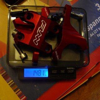 Gewicht FUNN Vorbau RSX Light 31.8mm, 45mm, 35°