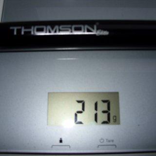 Gewicht Thomson Sattelstütze Elite 26,8 x 330mm