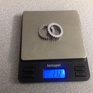 Gewicht DT Swiss Weiteres/Unsortiertes Zahnscheiben 18er 2x18 massiv