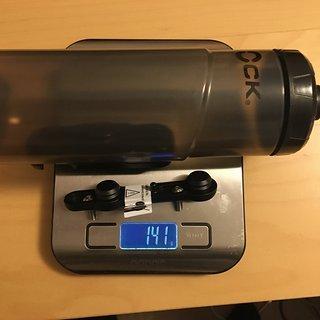 Gewicht Fidlock Flasche Twist 600ml + base 600ml