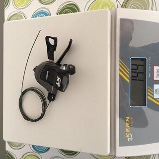 Gewicht Shimano Schalthebel XT SL-M8000 Rechts