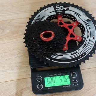 Gewicht Sunrace Kassette CSMX80 11-fach, 11-50