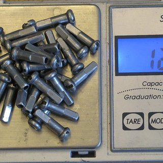 Gewicht DT Swiss Speichennippel Standard Aluminium 32x, 2mm, 16mm