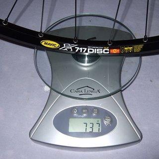 """Gewicht Nope Systemlaufräder N90 XC 717 Sapim VR 26"""" 20mm"""