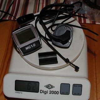 Gewicht VDO Computer MC1.0