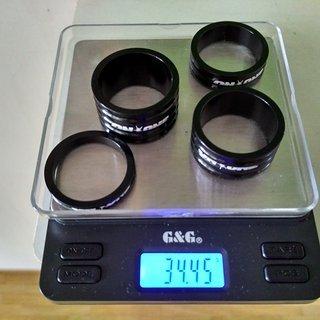Gewicht On-One Spacer Superlight CNC Spacer Set 1⅛'', 20/15/10/5mm