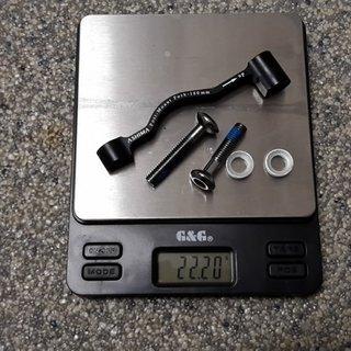 Gewicht Ashima Scheibenbremsadapter Adapter AU3-1 PM >>> PM +20