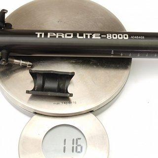 Gewicht KCNC Sattelstütze Ti Pro Lite Scandium 31,6 x 250mm