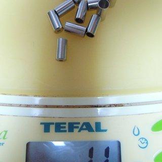 Gewicht FASI Innen- und Außenzüge Endhülsen Messing, vernickelt InnenØ4,7   - 10 Stück