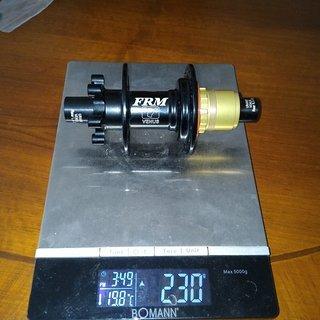 Gewicht FRM Nabe Venus X12 142 x 12mm
