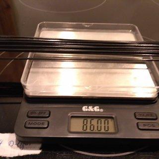 Gewicht Sapim Speiche D-Light 294mm, 16 Stück