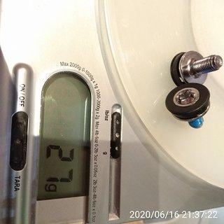 Gewicht Tongsheng Schrauben, Muttern Kurbelschrauben für Pedelec-Kurbeln Tongsheng Mittelmotor TDSZ2