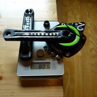 Gewicht power2max Kurbel Rotor 3D 175mm, 68/73mm, HT2