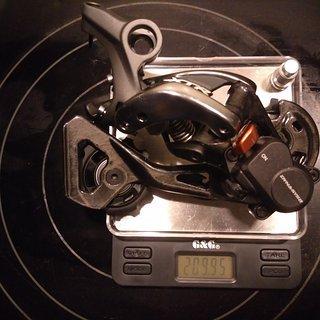 Gewicht Shimano Schaltwerk XTR RD-M9000 SGS