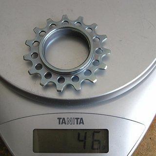 Gewicht Rohloff Nabenschaltungen Ritzel 15Z