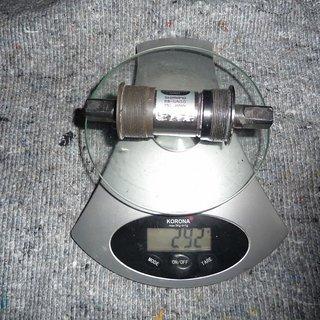 Gewicht Shimano Innenlager BB-UN50 4-kant, 68/122mm, BSA