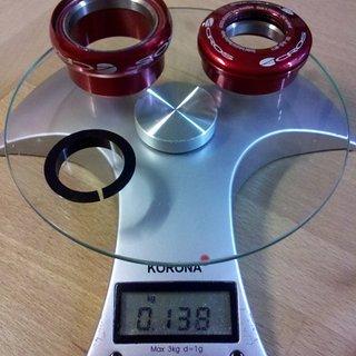 Gewicht Acros Steuersatz AX-25 ZS49/28.6, EC49/40