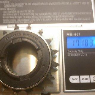 Gewicht Shimano Weiteres/Unsortiertes SF-MX30 Freilaufritzel 16Z