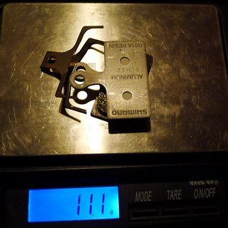 Gewicht Shimano Bremsbelag G01A