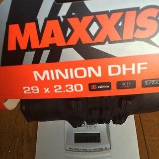 Gewicht Maxxis Reifen Minion DHF 3C / EXO / TR  29 x 2.3