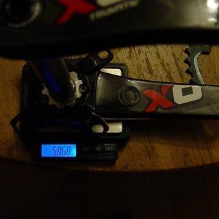 Gewicht Truvativ Kurbel X0 DH  165mm, 83mm, GXP