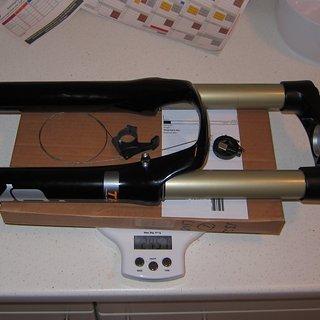 """Gewicht Suntour Federgabel Durolux TAD  26"""", 120-160mm, 1.5''"""