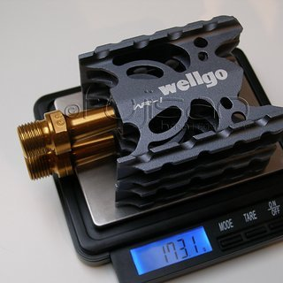Gewicht Wellgo Pedale (Platform) WR-1 (tuned) 93x61.4x22mm