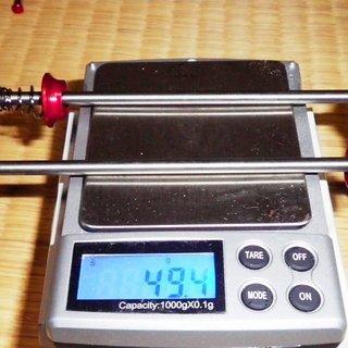 Gewicht Aest Schnellspanner QR03 BAMBOO Titanium 100mm, 135mm