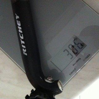 Gewicht Ritchey Sattelstütze Comp 31,6 x 400