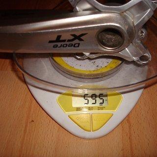Gewicht Shimano Kurbel XT FC-M770 175mm, 68/73mm, HTII
