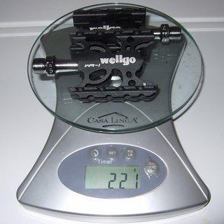 Gewicht Wellgo Pedale (Platform) WR-1 93x61.4x22mm