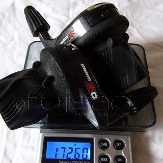 Gewicht SRAM Drehschaltgriff X0 (tuned) 3x10-fach