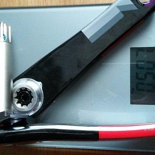 Gewicht SRAM Kurbel XX1 170mm, 68/73mm, GXP