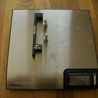 Gewicht Magura Scheibenbremsadapter Adapter QM-7 PM >>> PM +43