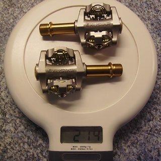 Gewicht Exustar Pedale (Klick) E-PM25Ti