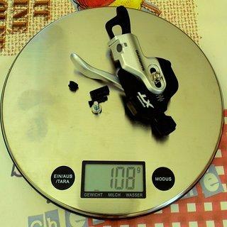 Gewicht Shimano Schalthebel XT SL-M780-B-I 3-fach