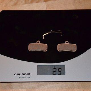 Gewicht Shimano Bremsbelag D02S Standart