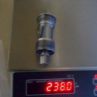 Gewicht Shimano Innenlager XTR BB-UN91 4-Kant, 68/115mm, BSA