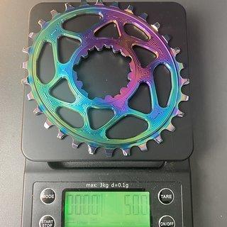 Gewicht absoluteBlack Kettenblatt Oval Boost pvd Rainbow direct mount for Sram 30T