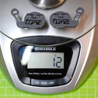 Gewicht Tune Bremsbelag Brake Force One (Magura Louise ab 2007)