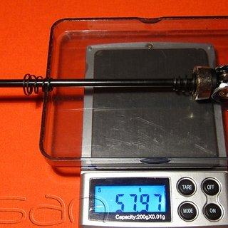 Gewicht Coda Schnellspanner Schnellspanner 135mm