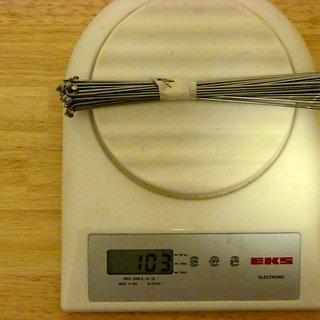 Gewicht Sapim Speiche Laser 181mm, 32 Stück