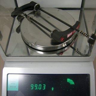 Gewicht DT Swiss Schnellspanner RWS MTB Steel 100mm, 135mm