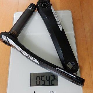 Gewicht SRAM Kurbel X9 175mm, 68/73mm, GXP