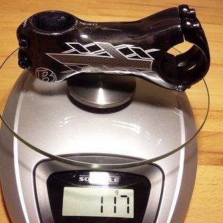 Gewicht Bontrager Vorbau Race XXX Lite 31.8mm, 90mm, 7°